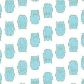 Owl Pattern White Background