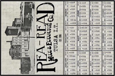Rea-Read Mill Calendar Towel