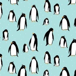 A Plethora of Penguins (small) blue