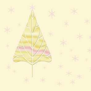 Alone in a Field with Pink Snowflakes