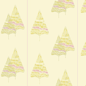 Holiday Trees in Pink and Cream