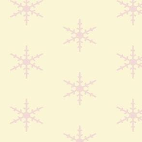 Creamy Skies Full of Pink Snowflakes