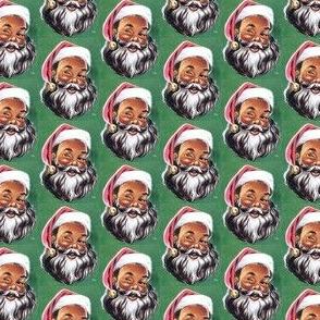 Winking Black Santa