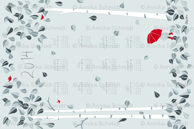 2014 Birch Tree Tea Towel Calendar