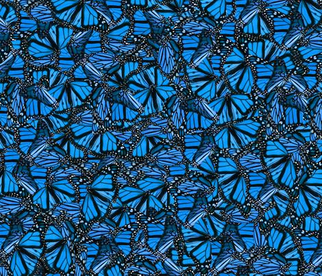Blue Butterflies fabric by jenfur on Spoonflower - custom fabric