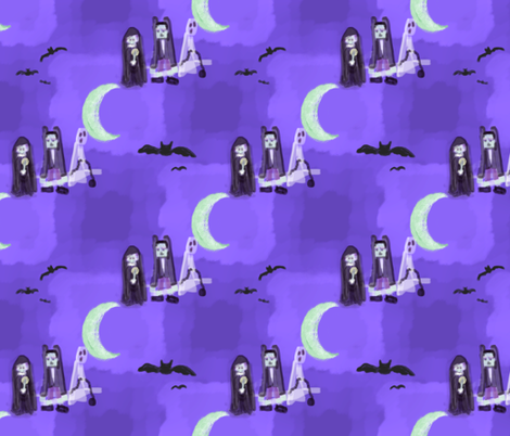 Modern Haunts fabric by peacoquettedesigns on Spoonflower - custom fabric