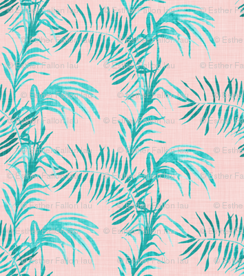 Tropical Palm (LINEN rose quatz)