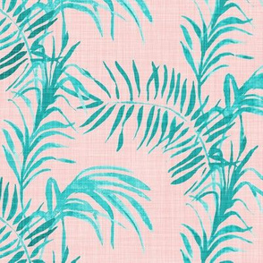 Tropical Palm (rose linen)