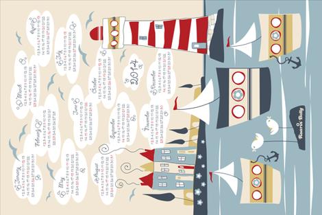 Land_Ahoy__2014 fabric by roarin_betty on Spoonflower - custom fabric