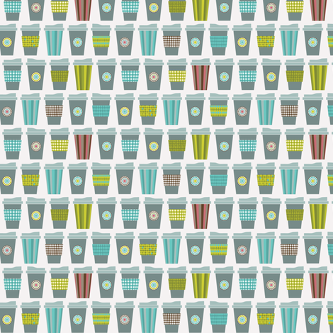 Anyone for coffee? fabric by ebygomm on Spoonflower - custom fabric