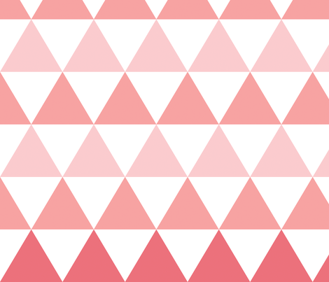 Ombre Triangle (pink/coral) fabric by leanne on Spoonflower - custom fabric