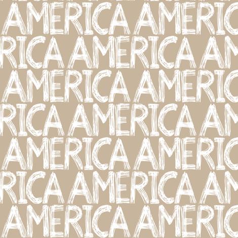 Graffiti Scribbles America Tannish fabric by pennyroyal on Spoonflower - custom fabric