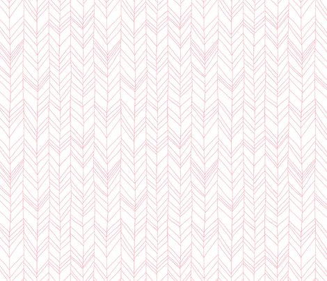 Featherland White/Pink fabric by leanne on Spoonflower - custom fabric