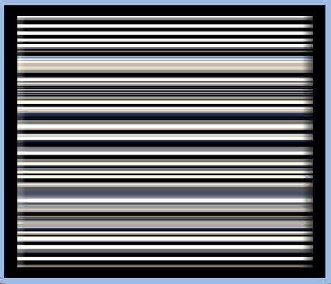 Stripes Framed in Blue fabric by anniedeb on Spoonflower - custom fabric