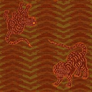 Tiger Chevron Ikat