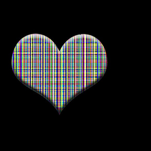 Plaid Heart in Deep Dark Space