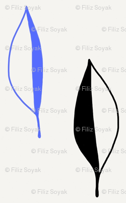 Black and Blue Leaf