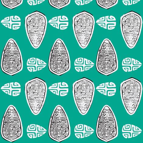 Havaiki Holiday marquesan shield fabric by sophista-tiki_by_dawn_frasier on Spoonflower - custom fabric