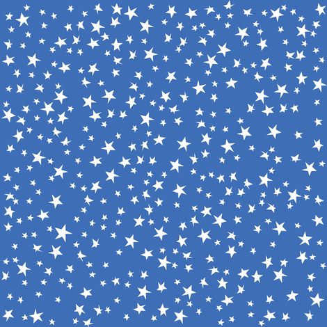 Scattered Stars (Blue) fabric by robyriker on Spoonflower - custom fabric