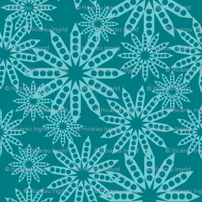 fleurs bicolore bleu