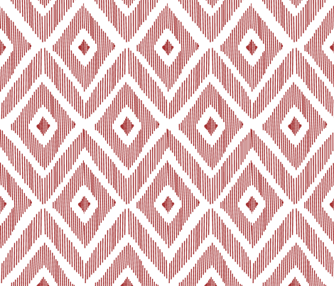 Ikat Red fabric by fat_bird_designs on Spoonflower - custom fabric
