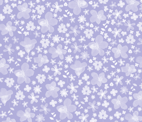 Flora Lavendar fabric by beththompsonart on Spoonflower - custom fabric