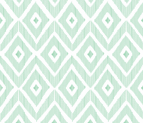Ikat Mint fabric by fat_bird_designs on Spoonflower - custom fabric