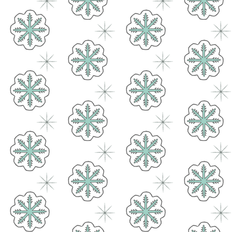 Snow Flakes fabric by fat_bird_designs on Spoonflower - custom fabric