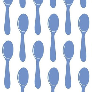 french blue spoons
