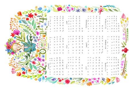 2014 Tea Towel fabric by abigailhalpin on Spoonflower - custom fabric