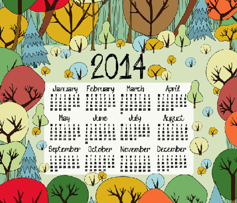 Autumn Wonder 2014 Calendar