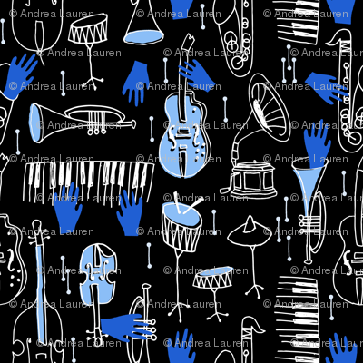 Kind of Blue - Musical Jazz by Andrea Lauren