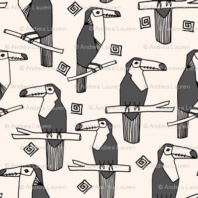 toucans // charcoal toucan bird tropical bird summer tropical toucans