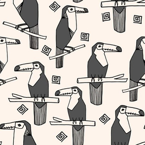 toucans // charcoal toucan bird tropical bird summer tropical toucans