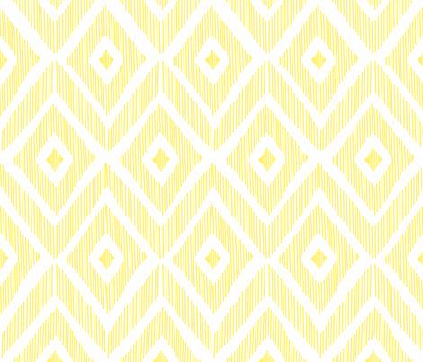 Ikat Yellow fabric by fat_bird_designs on Spoonflower - custom fabric