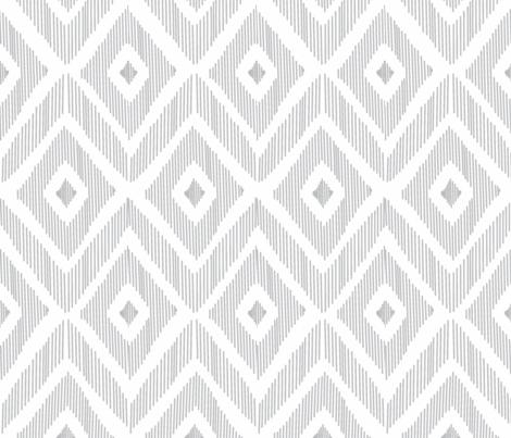 Ikat Gray fabric by fat_bird_designs on Spoonflower - custom fabric