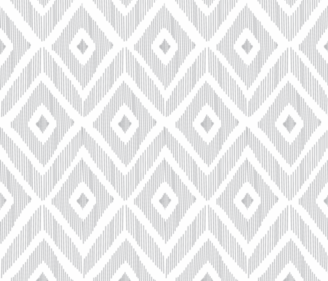 Ikat Gray fabric by fat_bird_designs on Spoonflower - custom fabric
