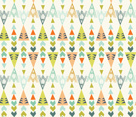 triangles - big - new colours fabric by bethan_janine on Spoonflower - custom fabric