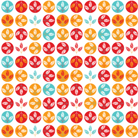 Fall leaves fall freely fabric by ebygomm on Spoonflower - custom fabric