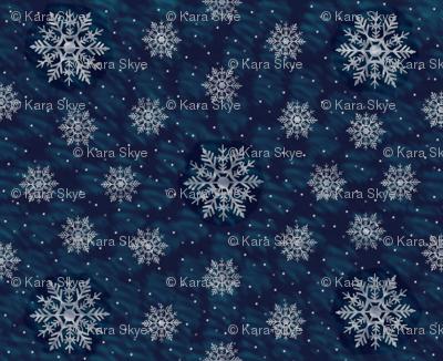 Snowy NIght - Backing Fabric for Winter Barn Owl
