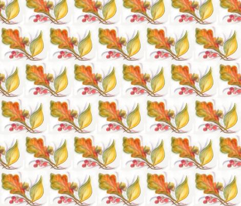 Autumn Leaves fabric by audettesa on Spoonflower - custom fabric
