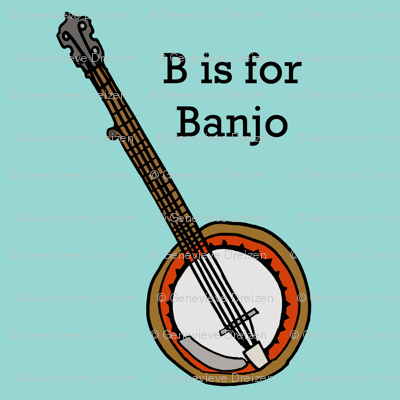 Banjo Fabric Illustratedbyjenny Spoonflower