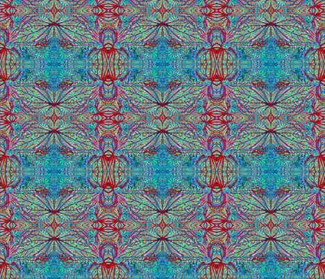 Critters of the Sea-red/blue fabric by guylas_coastal_creations on Spoonflower - custom fabric