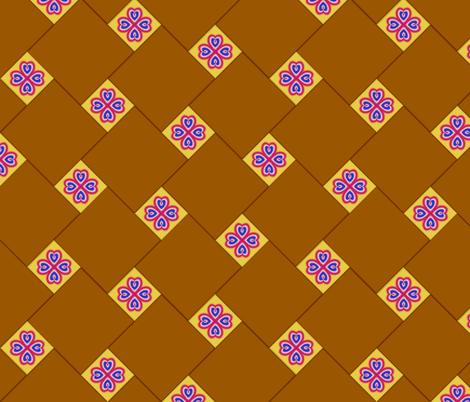 Homage to Papa Felipe's Floor fabric by fireflower on Spoonflower - custom fabric