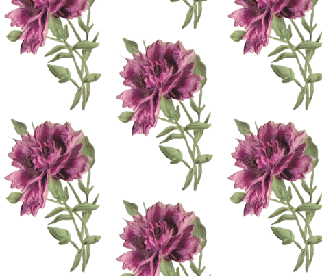 Pink Flower fabric by beckyhayes on Spoonflower - custom fabric