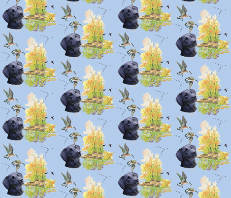 repeating_pattern_lab_and_ducks fabric by dogdaze_ on Spoonflower - custom fabric