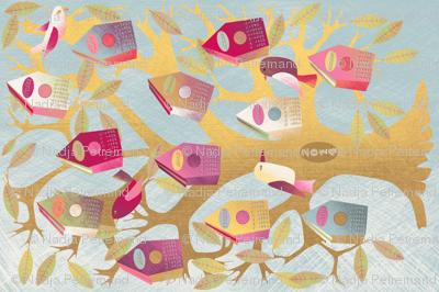 """""""calendar 2014 housse birds"""""""
