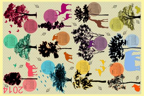 2014 Tea Towel fabric by luhaddad on Spoonflower - custom fabric