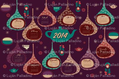 2014 Super Tea Towel Calendar