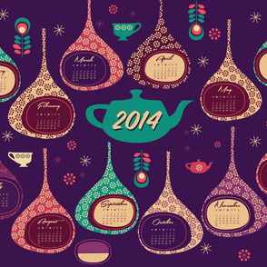 2014 Super Tea Towel Calendar